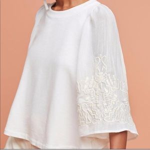 Anthropologie Kathleen Embroidered Blouse